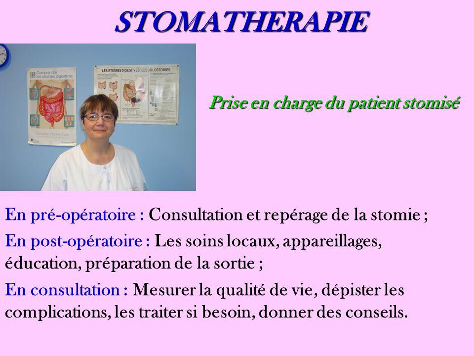 STOMATHERAPIE Prise en charge du patient stomisé