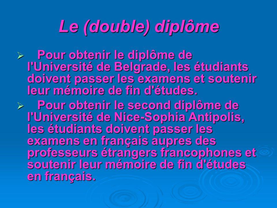 Le (double) diplôme