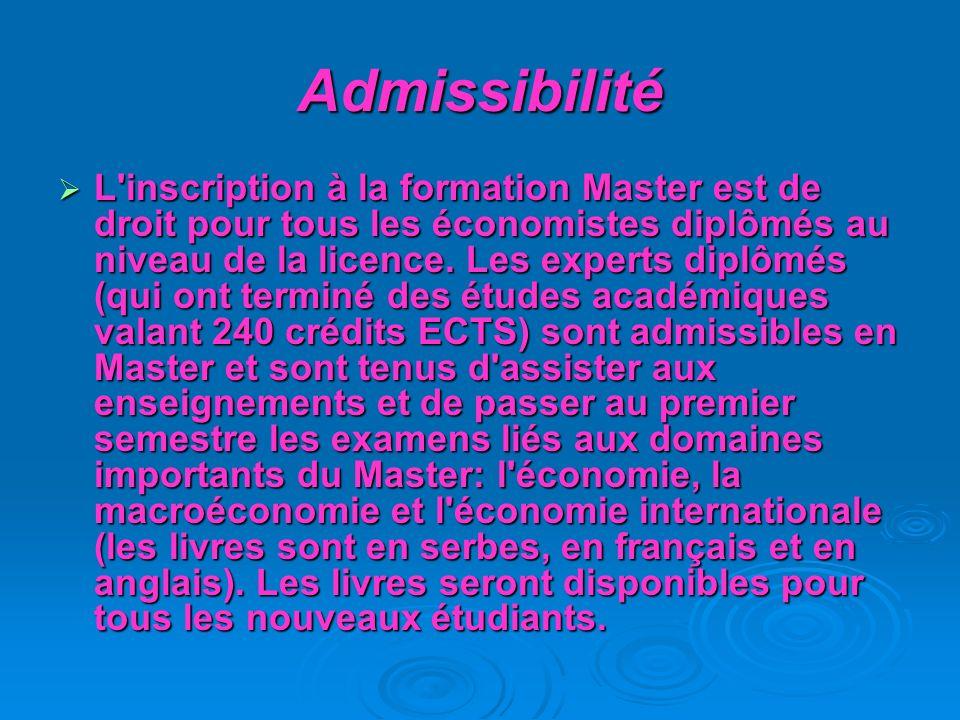 Admissibilité