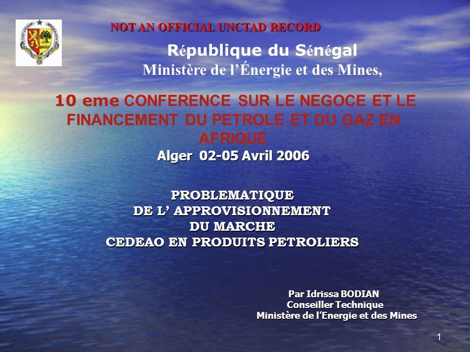 Ministère de l'Énergie et des Mines,