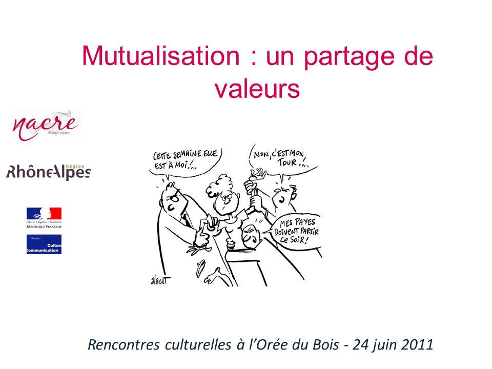 Mutualisation : un partage de valeurs
