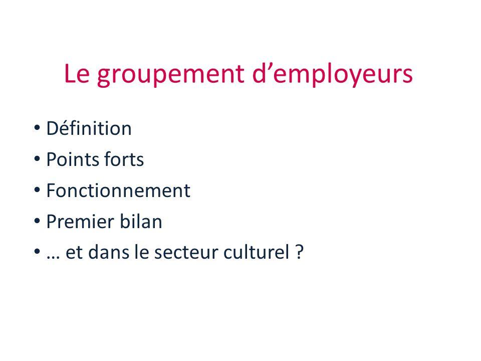 Le groupement d'employeurs