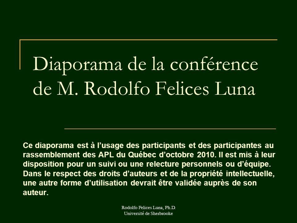 Diaporama de la conférence de M. Rodolfo Felices Luna