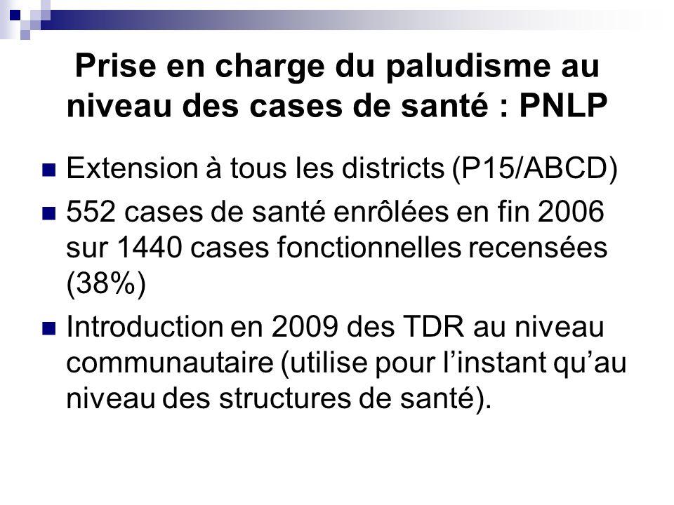 Prise en charge du paludisme au niveau des cases de santé : PNLP
