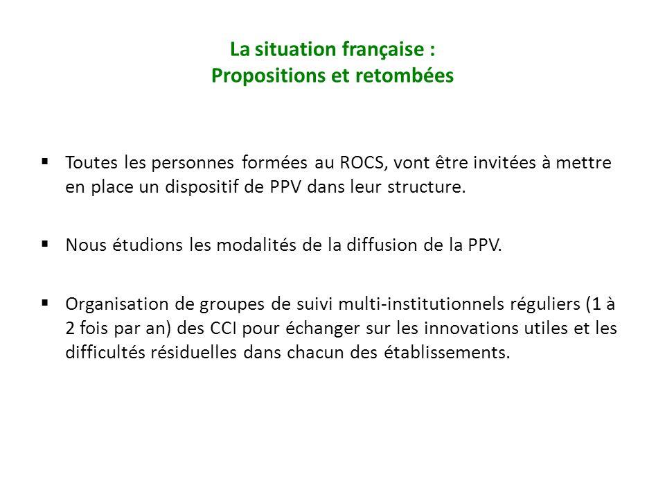 La situation française : Propositions et retombées