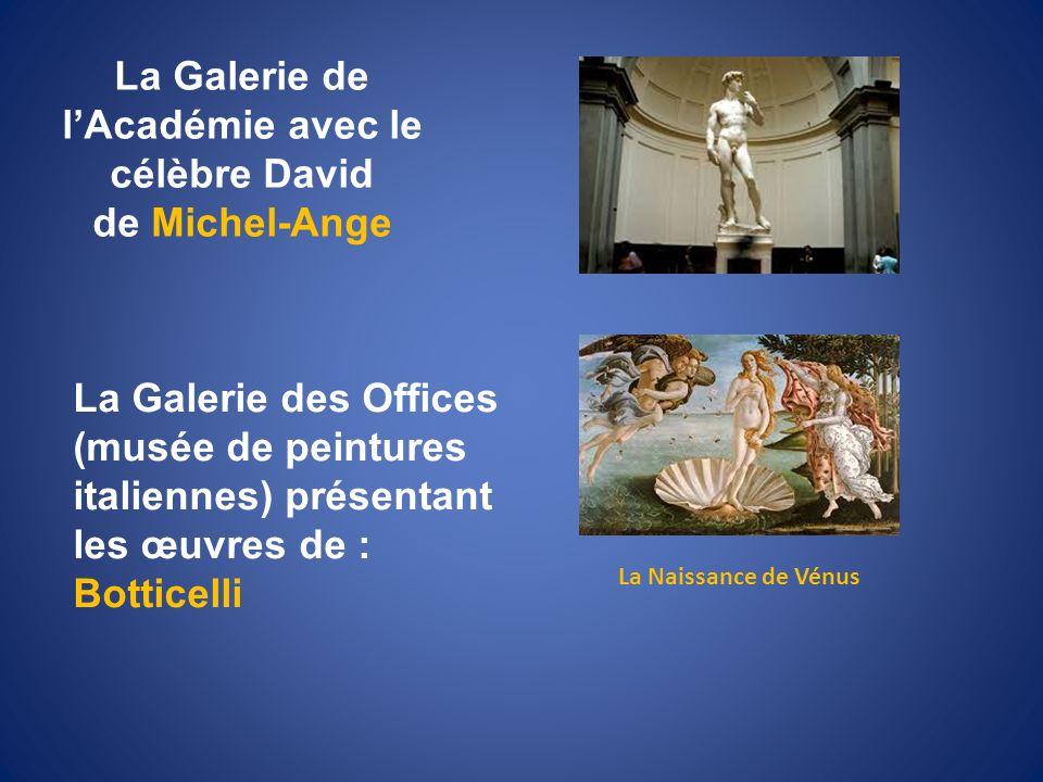 La Galerie de l'Académie avec le célèbre David