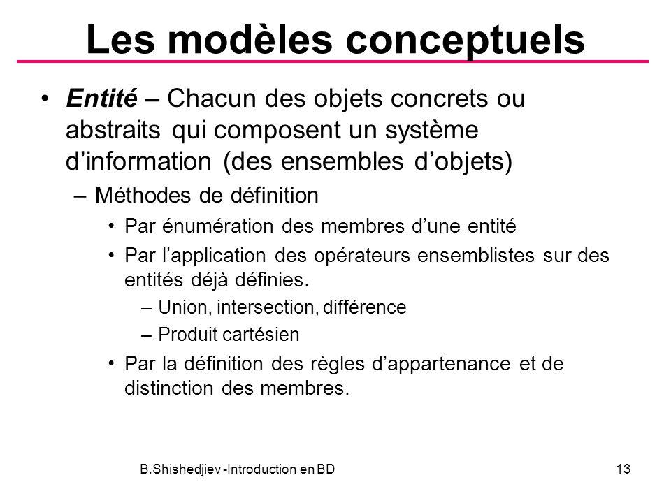 Les modèles conceptuels
