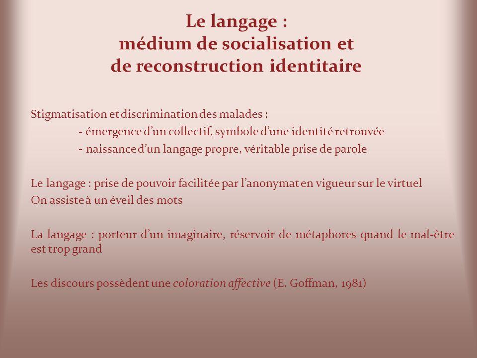 Le langage : médium de socialisation et de reconstruction identitaire