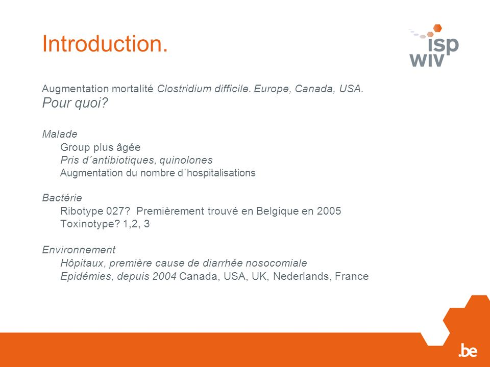 Introduction. Pour quoi