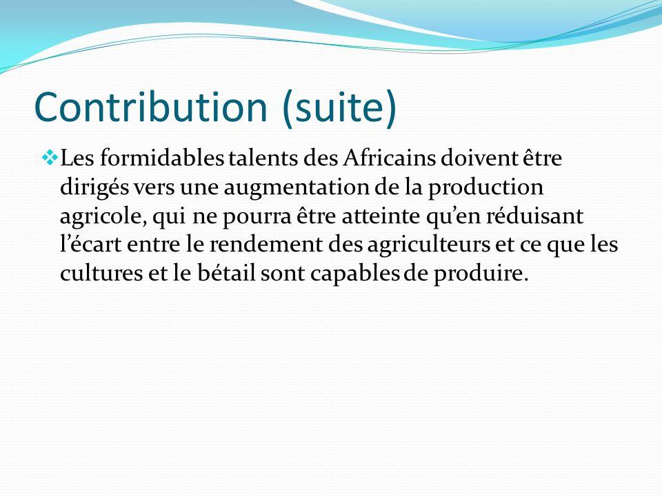 Contribution (suite)
