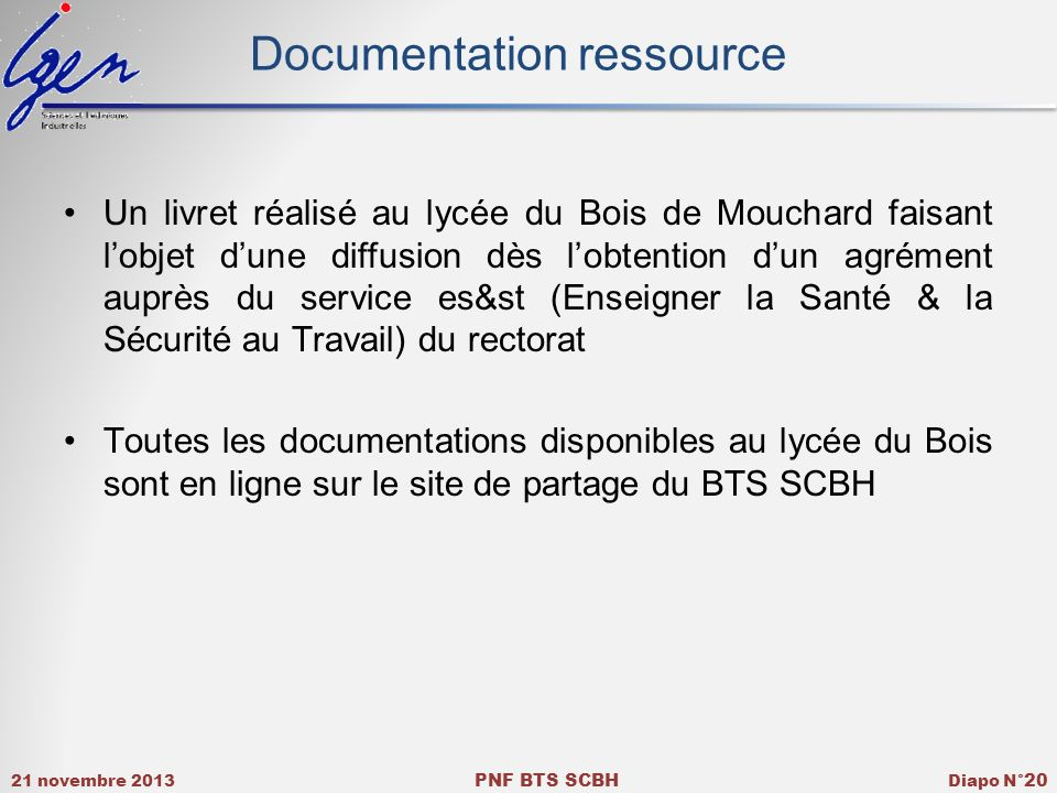 Documentation ressource