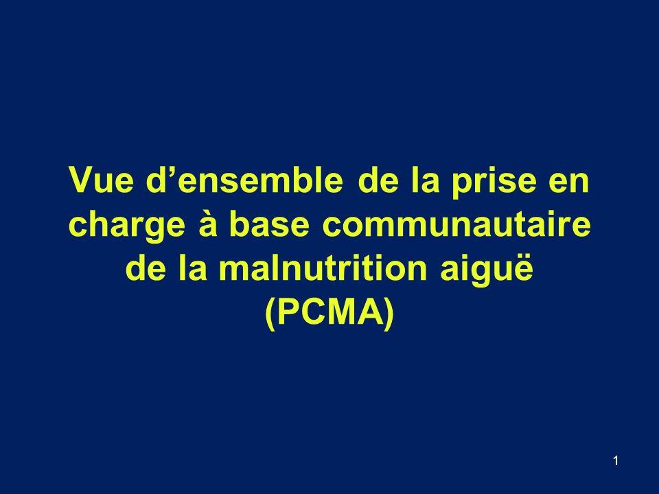 Vue d'ensemble de la prise en charge à base communautaire de la malnutrition aiguë (PCMA)