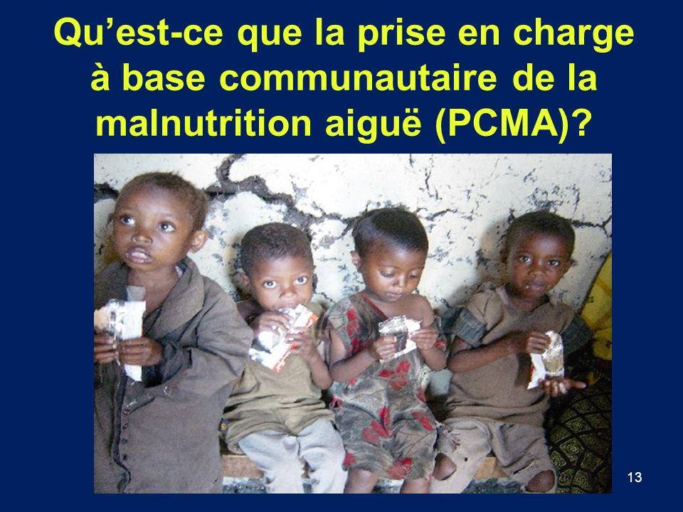 Qu'est-ce que la prise en charge à base communautaire de la malnutrition aiguë (PCMA)