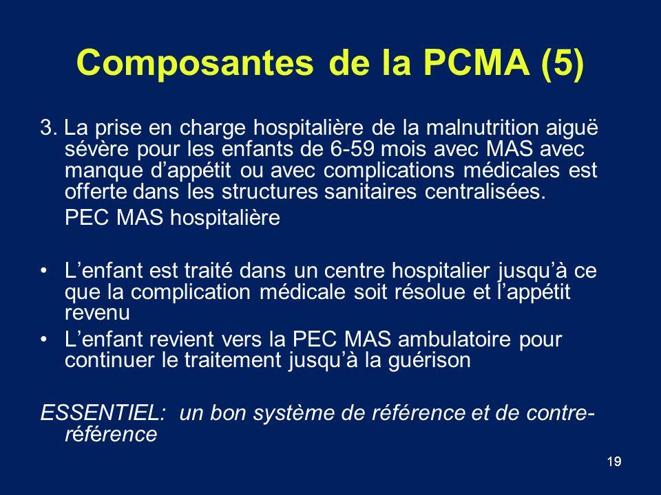 Composantes de la PCMA (5)