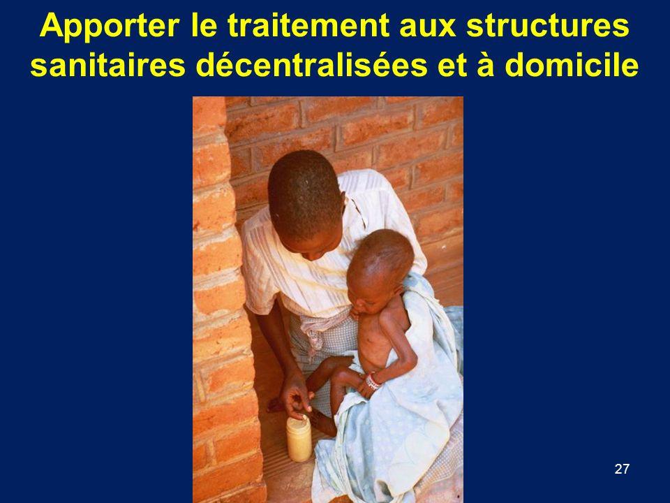 Apporter le traitement aux structures sanitaires décentralisées et à domicile