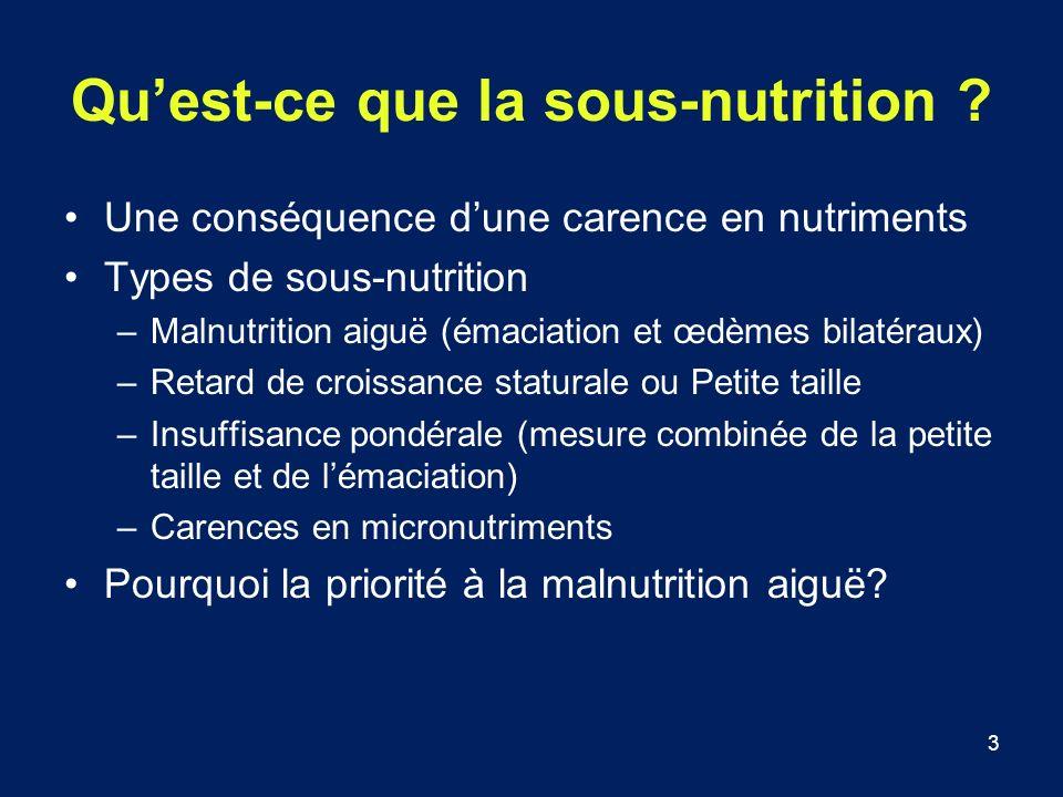 Qu'est-ce que la sous-nutrition