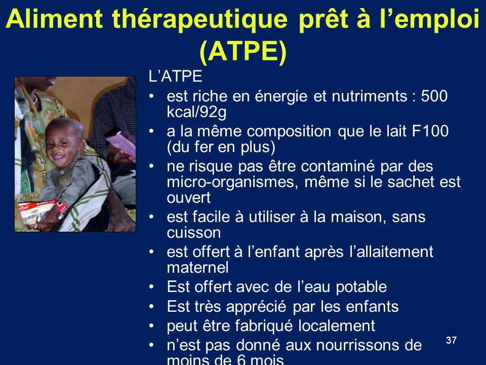Aliment thérapeutique prêt à l'emploi (ATPE)