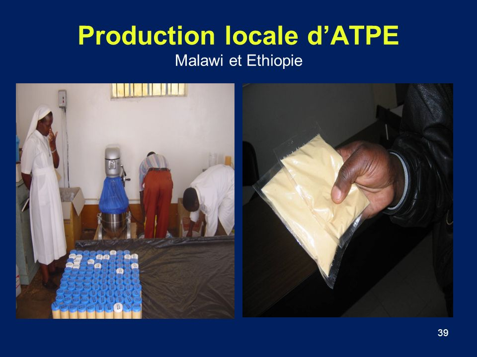 Production locale d'ATPE Malawi et Ethiopie