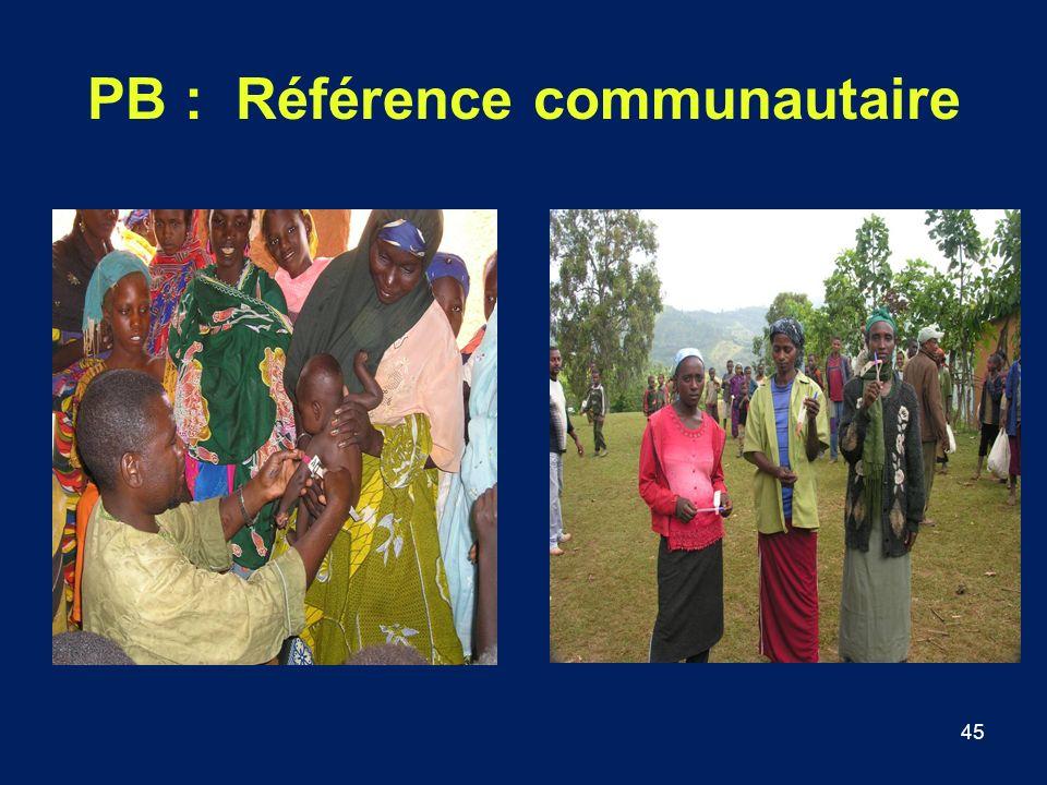 PB : Référence communautaire