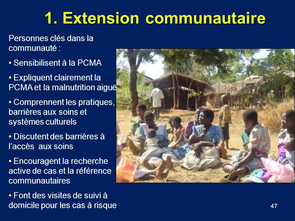 1. Extension communautaire