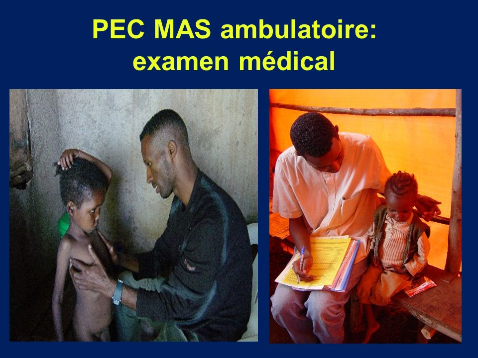 PEC MAS ambulatoire: examen médical