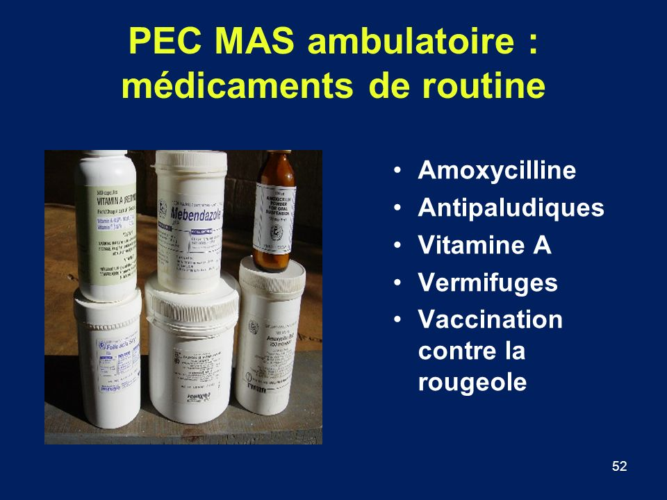 PEC MAS ambulatoire : médicaments de routine