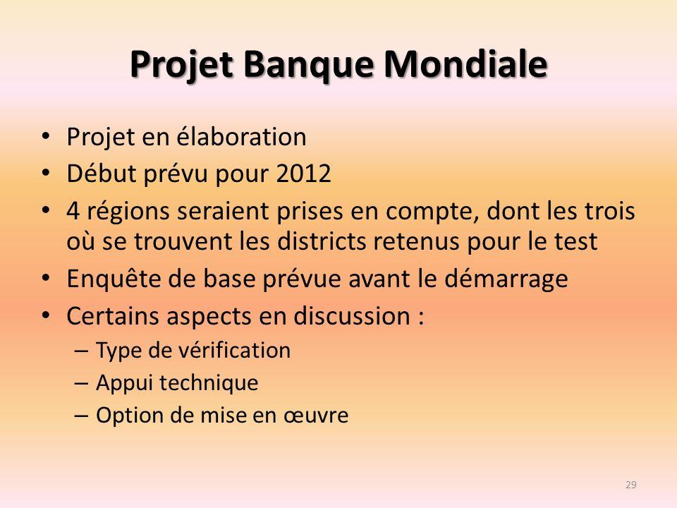 Projet Banque Mondiale
