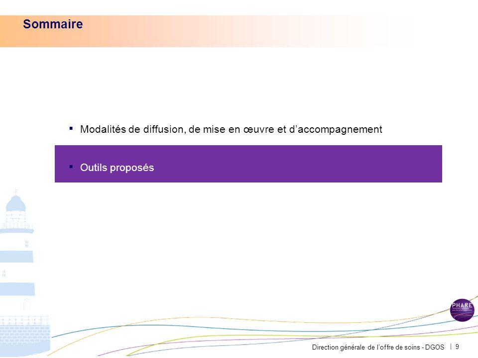 Sommaire Modalités de diffusion, de mise en œuvre et d'accompagnement
