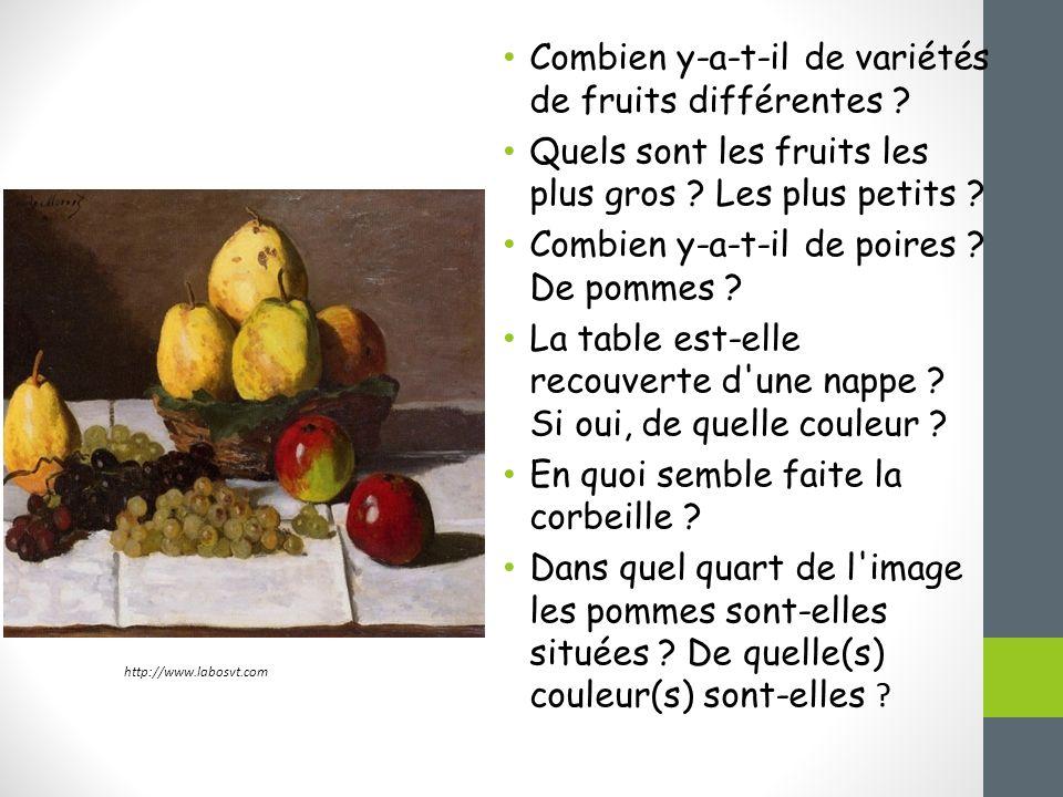 Combien y-a-t-il de variétés de fruits différentes
