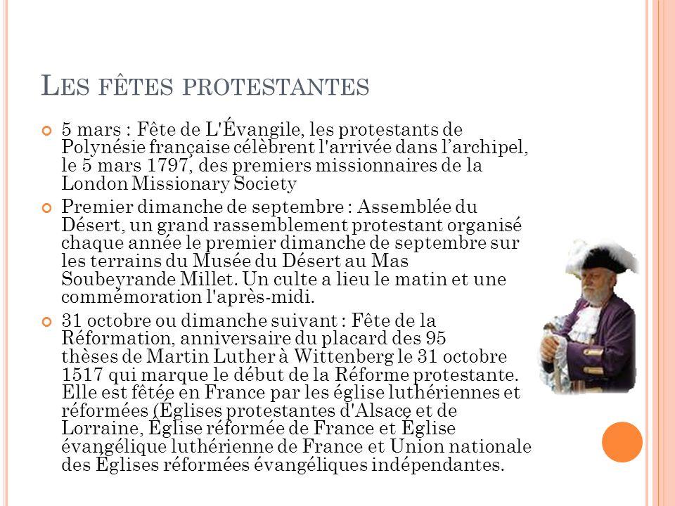 Les fêtes protestantes