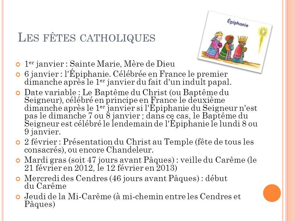 Les fêtes catholiques 1er janvier : Sainte Marie, Mère de Dieu