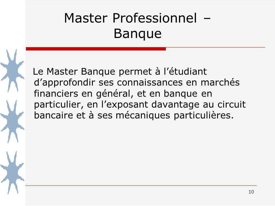 Master Professionnel – Banque