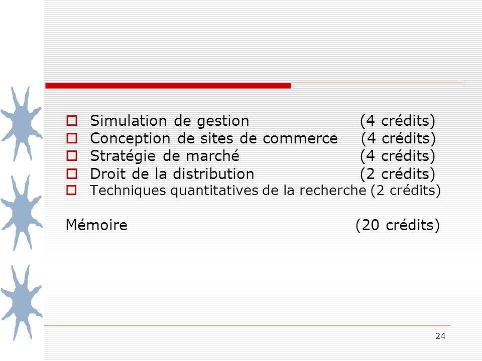 Simulation de gestion (4 crédits)