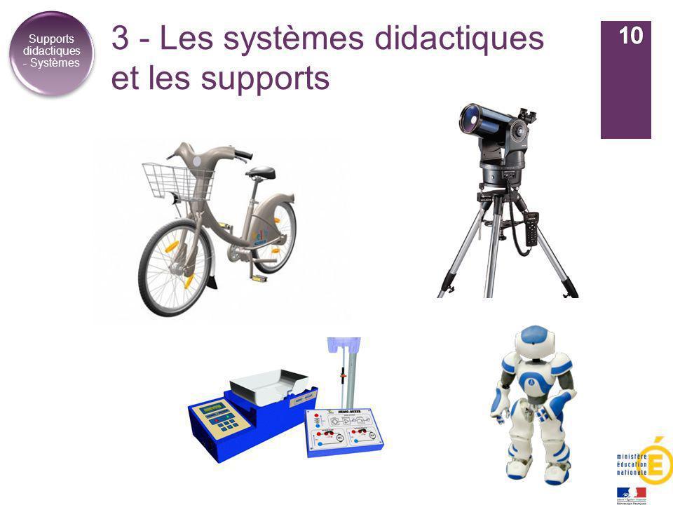 3 - Les systèmes didactiques et les supports