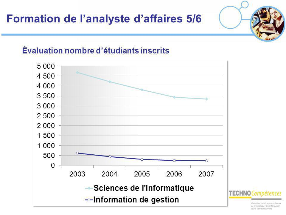 Formation de l'analyste d'affaires 5/6