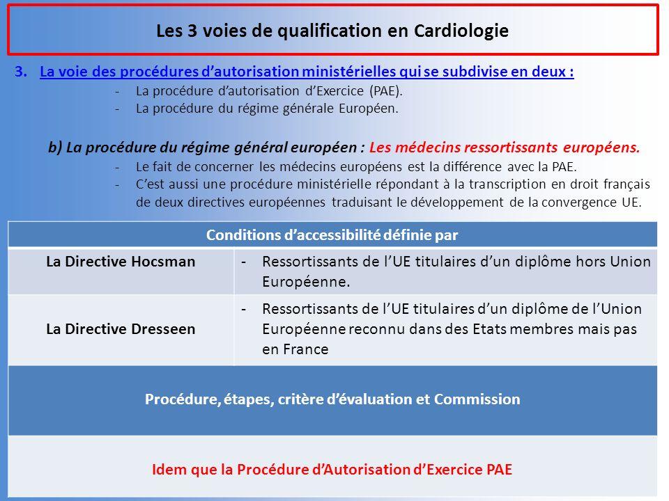 Les 3 voies de qualification en Cardiologie