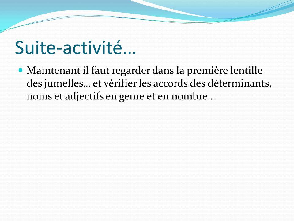 Suite-activité…