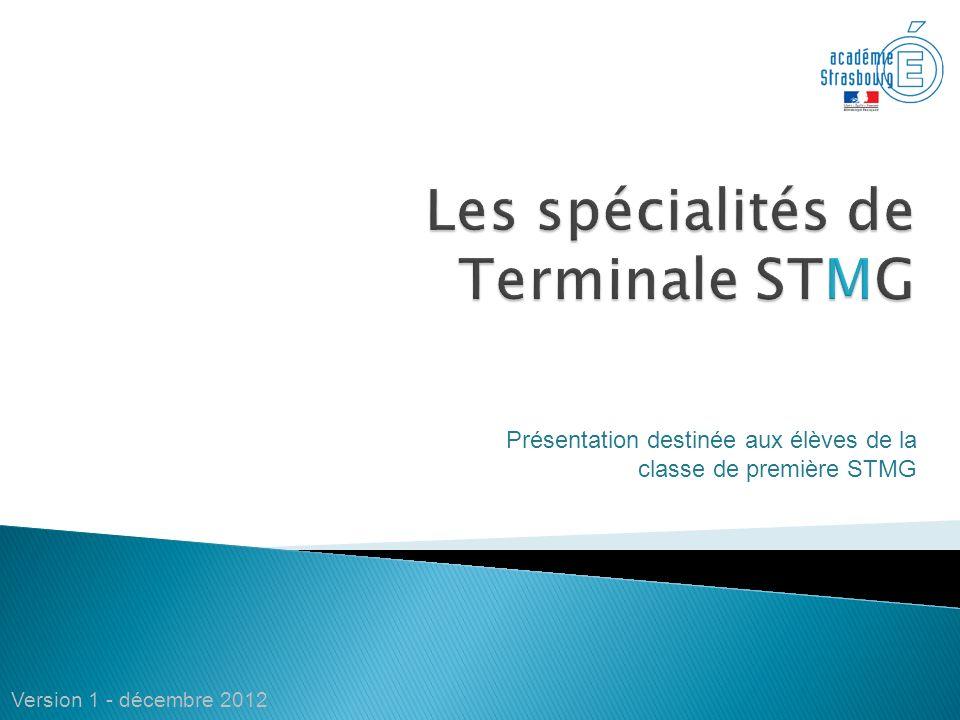 Les spécialités de Terminale STMG