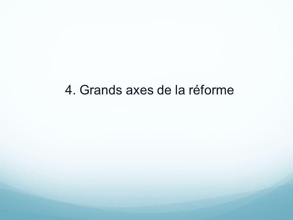 4. Grands axes de la réforme