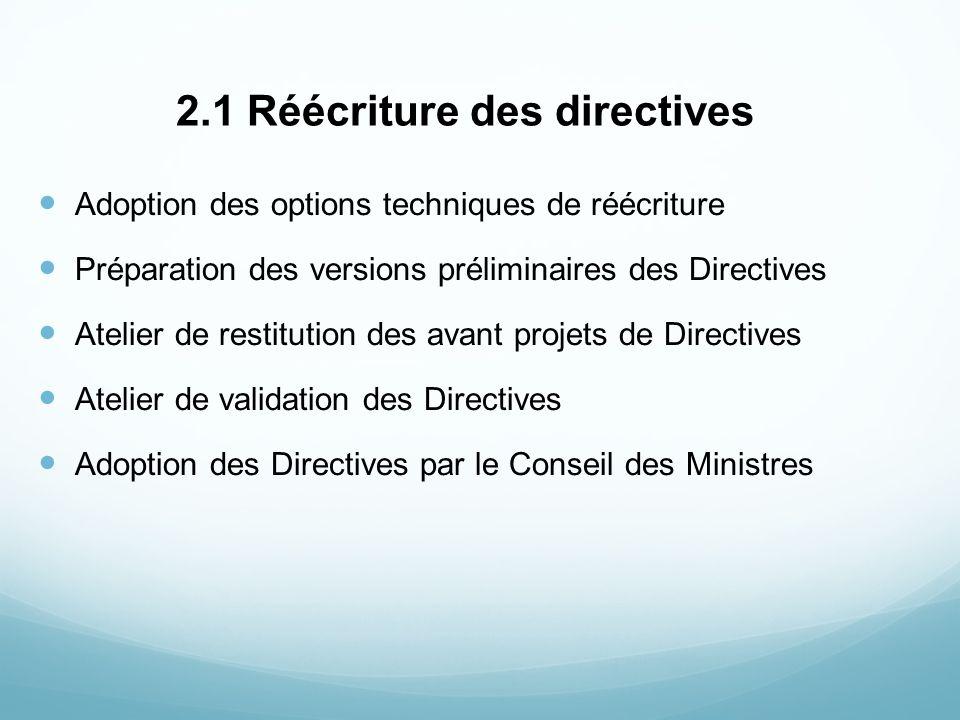 2.1 Réécriture des directives