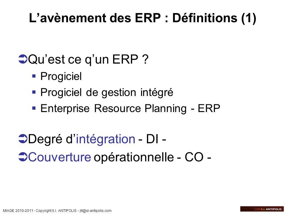 L'avènement des ERP : Définitions (1)