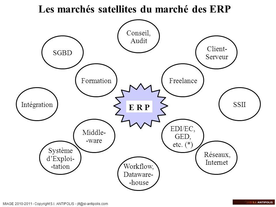 Les marchés satellites du marché des ERP