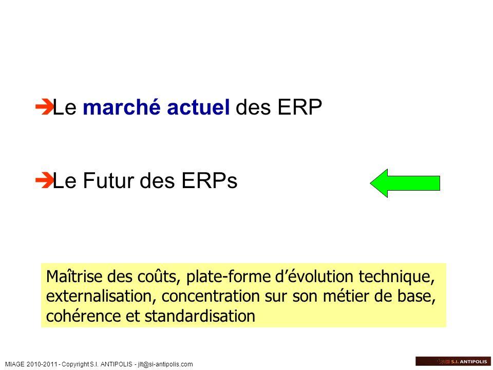 Le marché actuel des ERP