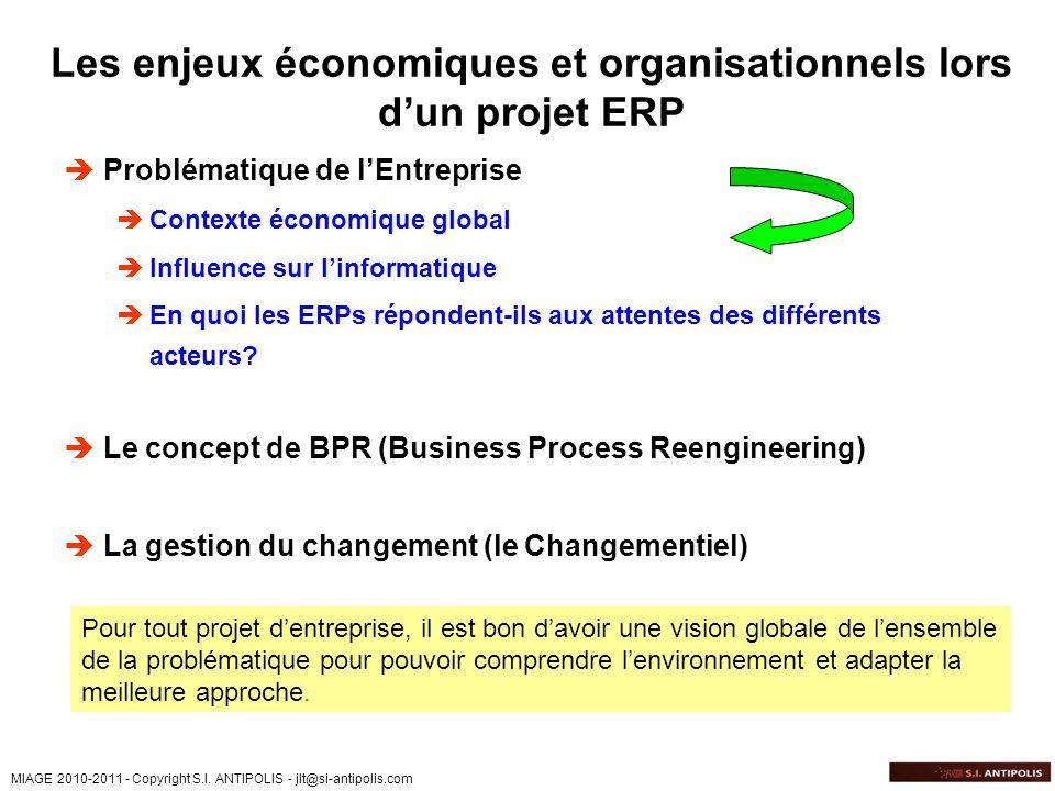 Les enjeux économiques et organisationnels lors d'un projet ERP