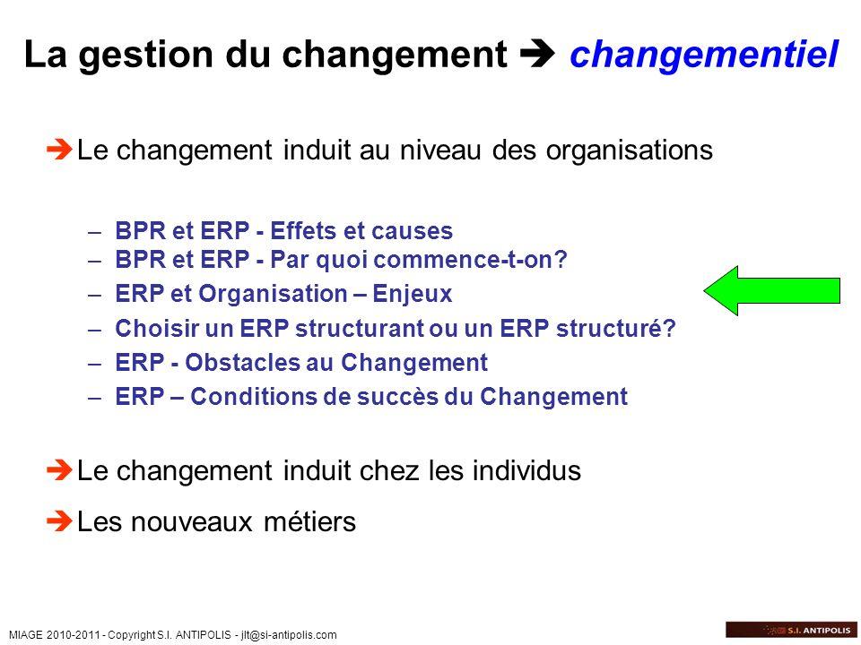 La gestion du changement  changementiel