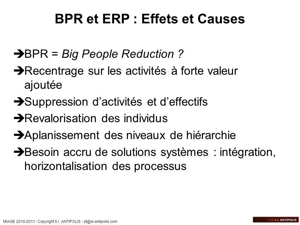BPR et ERP : Effets et Causes
