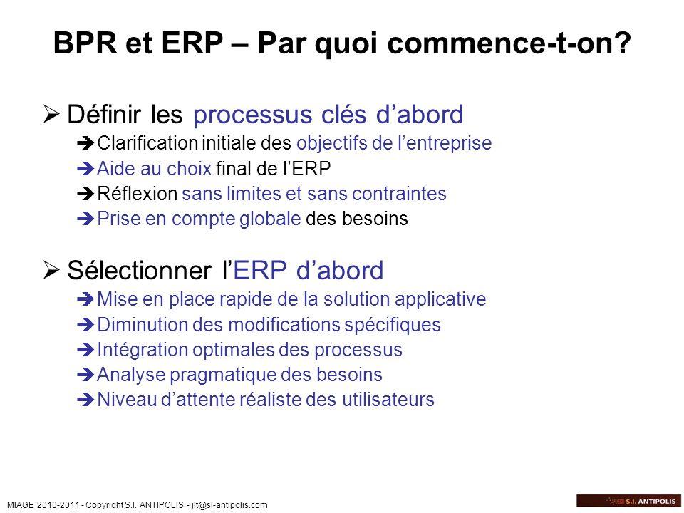 BPR et ERP – Par quoi commence-t-on