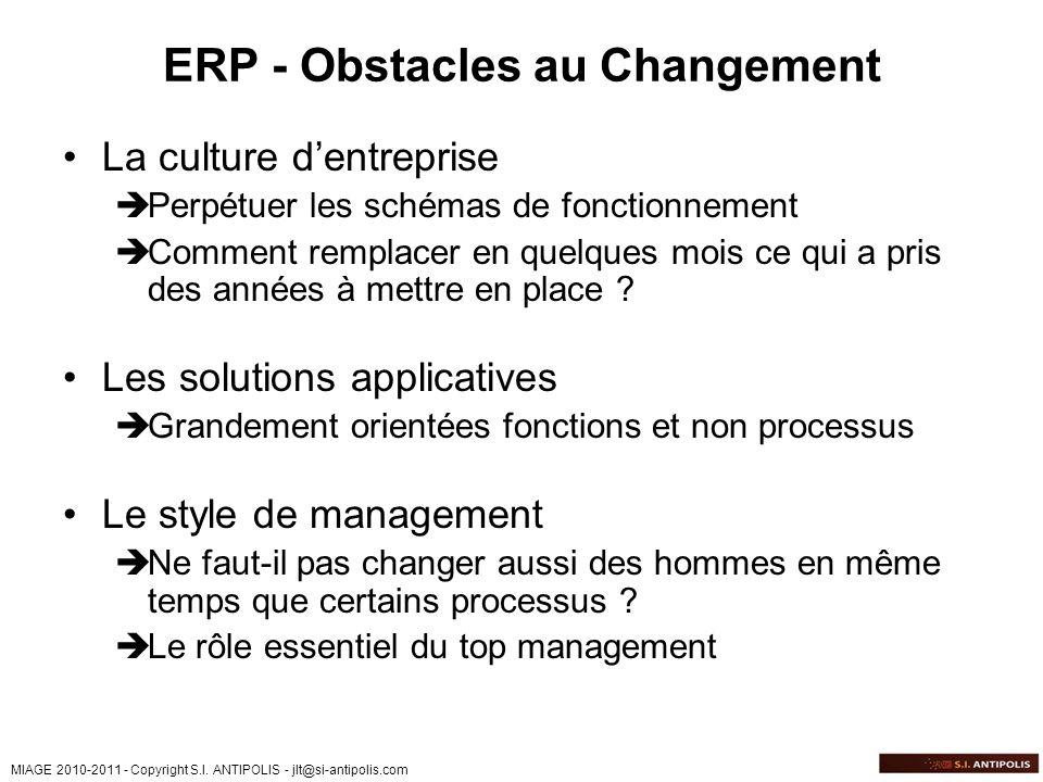 ERP - Obstacles au Changement