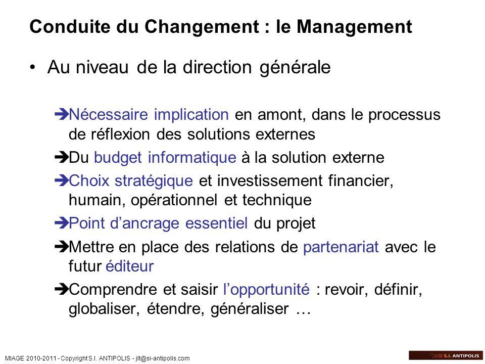 Conduite du Changement : le Management