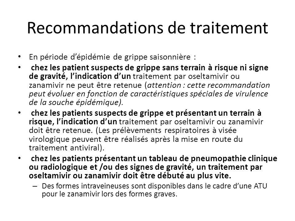 Recommandations de traitement